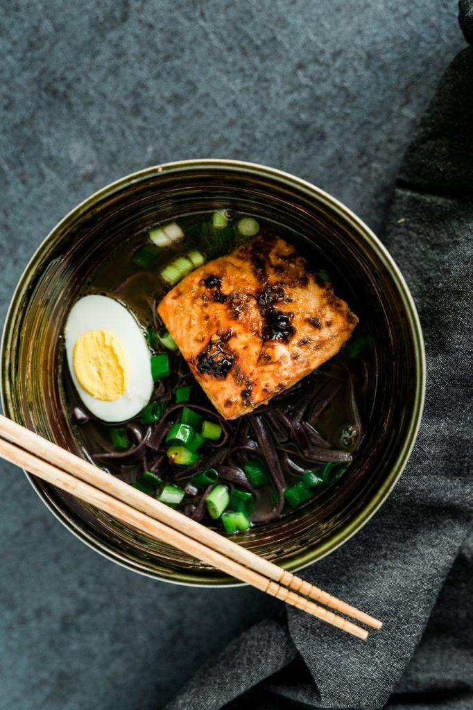 saumon et oeuf